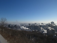 Overlooking Montreal from Mount Royal. Montreal is traditional territory of the Mohawk.