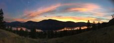 Sunset from Skaha Bluffs near Penticton B.C., overlooking traditional unceded territory of the Sylix people of the Okanagan Nation.